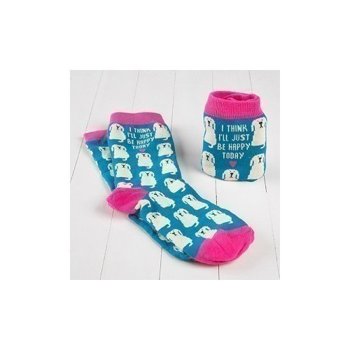 Women's Happy Today Dog Crew Socks Thumbnail