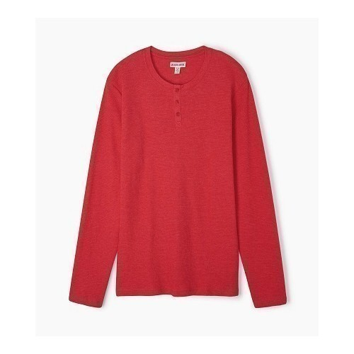 Waffle Henley Holiday Red Thumbnail