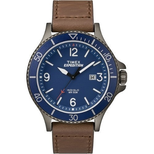 Expedition Ranger Blue Dial Leather Watch Thumbnail