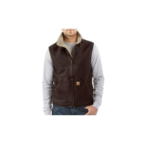 Carhartt Tall Sandstone SherpaLined Mock Vest Thumbnail
