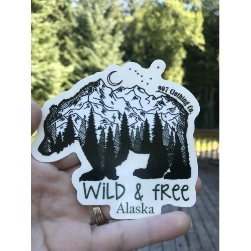 Wild and Free Bear Sticker Thumbnail