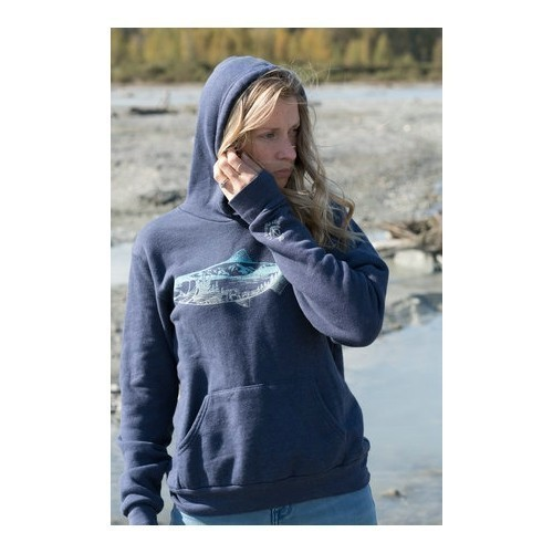 Women's Salmon Pullover Hoodie Thumbnail