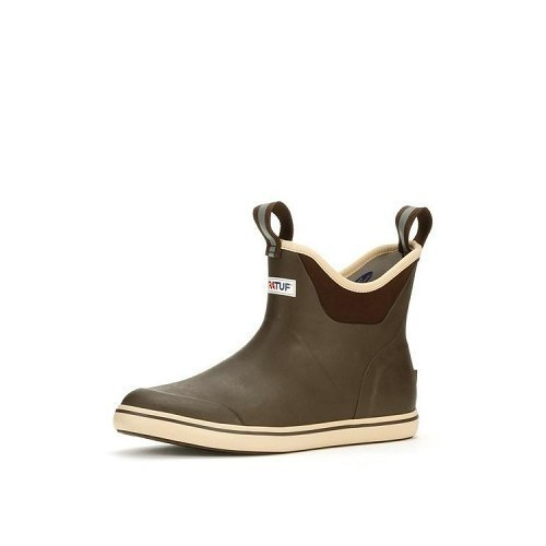 Brown Leather Ankle Deck Boot Thumbnail