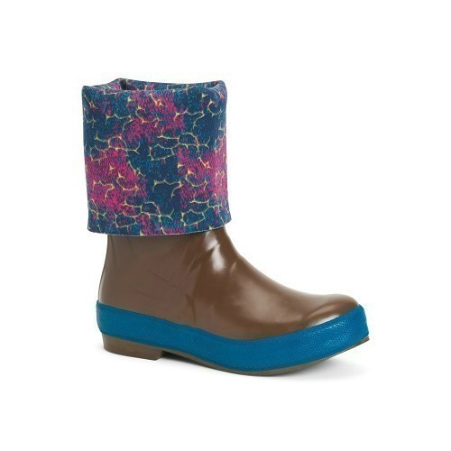 Womens Blue Coho Print XtraTuf Rubber Boot Thumbnail
